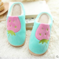 Winter Cotton Padded Home Floor Thermal Bathroom Slippers