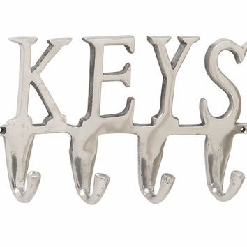 "Aluminum Keys Wall Hook 12""W 6""H"