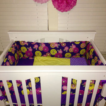 Custom Mini Crib 4 Piece Bedding Set
