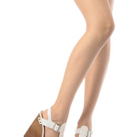 White Faux Leather Buckle Up Wedges