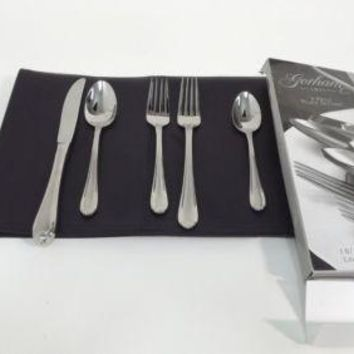 GORHAM Melonbud Frosted 5 5pc piece Place Setting Quality Stainless Flatware