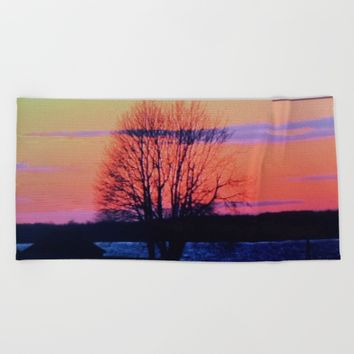 The tree of life  Beach Towel by Jessica Ivy