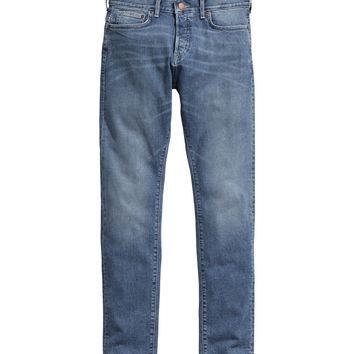 H&M - Slim Low Jeans - Dark denim blue - Men