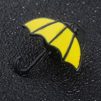 RJ Fashion Film HIMYM How I Met Your Mother Yellow Umbrella Women Pin Brooches Alice In Wonderland Blue French Horn Men Brooch