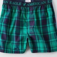 AEO Men's Plaid Boxer (Bright Neon Green)