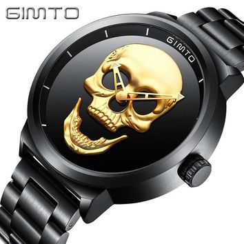 Skull Watch - Quartz Military Steel