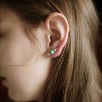 Versatile Style Turquoise and Silver Ear Pins Ear by jhammerberg on we heart it / visual bookmark #28096366