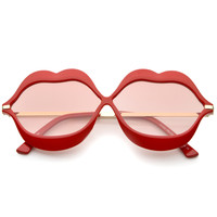 Oversize Novelty Lip Shape Frame Sunglasses A830