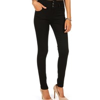 3-button High Waist Jeans