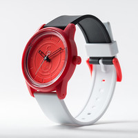 Quest & Quality Watch - Black & White with Red Dial