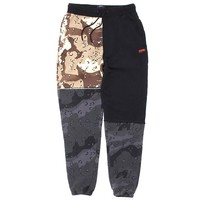 Day & Night Pieced Sweatpants Black / Camo