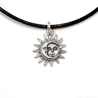 Small Silver Sun/Moon Customizable Necklace/Earrings/Ring