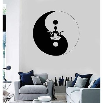 Wall Stickers Vinyl Decal Yin Yang Chinese Symbol Philosophy Unique Gift z1104