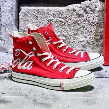 NOV9O2 Best Onlie Sale KITH x Coca Cola x Converse Chuck Taylor All Star 1970s High 70 Sneakers Red