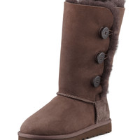 Bailey Triplet Button Tall Boot, Chocolate Brown, Youth - UGG Australia - Chocolate/Dbwn