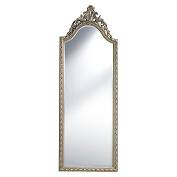 Mirrors, Brownstein Floor Mirror, Silver Leaf, Floor Mirrors