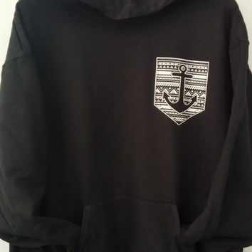 Pullover Hoodie - Aztec Anchor Combo