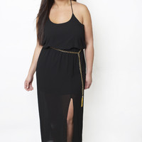 Gold Chain Belted Maxi Dress - Shop Women's Missy & Plus Size Clothing