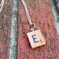 Scrabble Necklace, Pretty Little Liars, Scrabble Tile Necklace, Upcycled Jewelry, Hanukkah Gifts, Stocking Stuffer