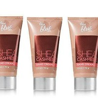 3 PACK Bath & Body Works Tue Blue SHEA CASHMERE HAND CREAM 2.5 oz