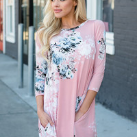Heaven On Earth Floral Dress Pink CLEARANCE