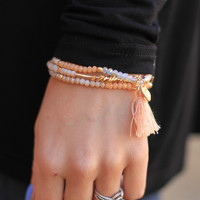 Next Escape Bracelet in Peach