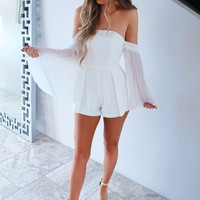 Angel Of Mine Romper: White