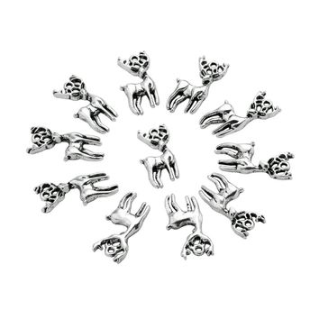 20 Pieces Wild Brave Deer Cute Charms Findings for Jewelry Pendants Necklaces Making 26 X 12mm