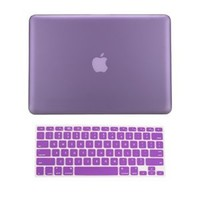 TopCase 2 in 1 Rubberized PURPLE Hard Case Cover and Keyboard Cover for Macbook Pro 13-inch (A1278/w