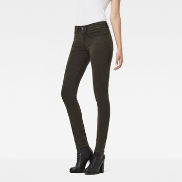 Lynn Mid Waist Skinny Color Jeans | Asfalt | Women | G-Star RAW®