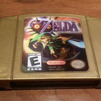 Legend of Zelda Majoras Mask,  Nintendo 64, n64 Zelda Majoras Mask collectors ed lenticular label, legend of Zelda Majoras mask Nintendo 64