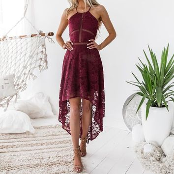 Women's Sexy Lace dress party dresses harness vestido clubwear summer beach hollow out 2019 new tunic dress female WS5690y