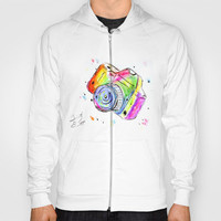 Watercolor Camera Hoody by Trinity Bennett