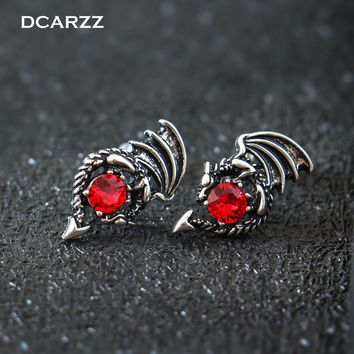 Game of Thrones Earrings the Crystals Dragon Stud Earrings for Woman Daenerys Targaryen Cosplay TV/Movie Jewelry Drop Shipping