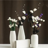 Fashion White Ceramic Flower Vase for Homes Decorative Vases Home Decoration Modern or Wedding Decoration Vaso Hot
