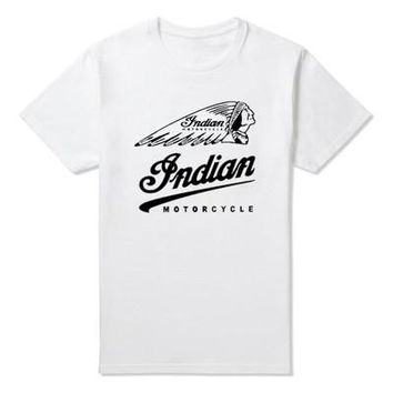 New 2016 Fashion Summer Style Vintage Tees Short Sleeve Funny T Shirts O-Neck Motion Indian Motorcycle T-shirt Cotton Men's Tops
