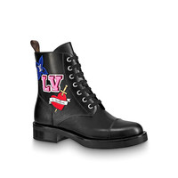 shosouvenir LV BLACK HEART Military boots