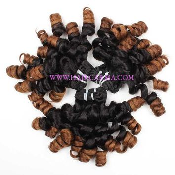Hair Ombre Bundles Funmi Hair Straight to Tight Loose Wave Human Hair Extensions