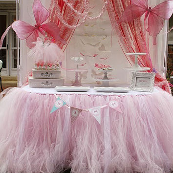 12 ft Decorative tutu tulle princess holiday birthday tutu cloth table skirt