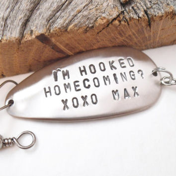 Creative Homecoming Dance Fishing Lure Promposal to Girl Proposal to Boy Unique Idea to Ask Her Him Will you go to Homecoming Boyfriend Date