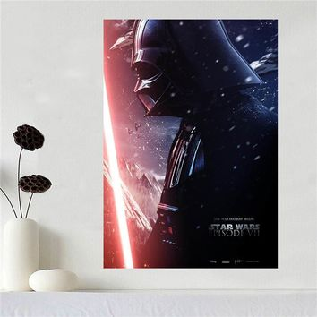 Star Wars Force Episode 1 2 3 4 5 Custom canvas poster Art  poster cloth fabric wall poster print Silk Fabric Print SQ0604 AT_72_6
