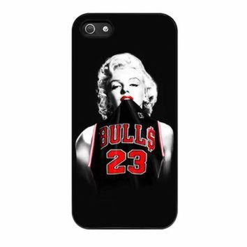 CREYUG7 Marilyn Monroe Chicago Bulls Jersey Michael Jordan iPhone 5 Case