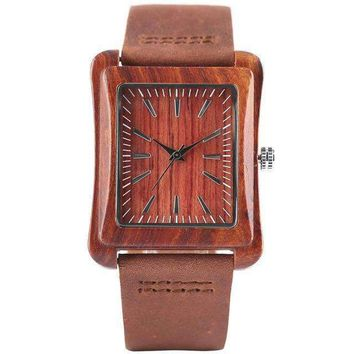 Wooden Bamboo Nature Watch W246302 + Air Humidifier - Oil Diffuser
