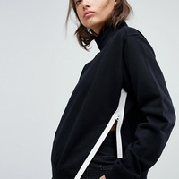 G-Star Boyfriend Sweatshirt with Contrast Stripe at asos.com
