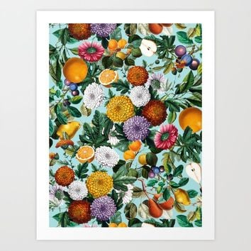 Summer Fruit Garden Art Print by burcukorkmazyurek