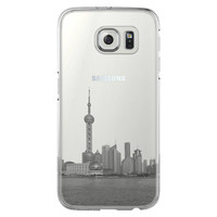 Pudong Skyline Shanghai China  Samsung Galaxy S6 Edge Clear Case S6 Case S5 Transparent Cover iPhone 6s plus Case