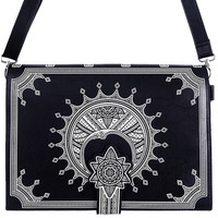 Restyle Henna Crescent Moon Gothic Witch Magic Spell Book Shape Handbag