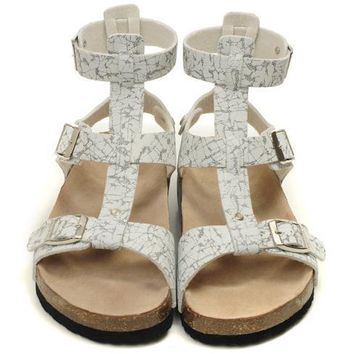 Birkenstock Leather Cork Flats Shoes Women Men Casual Sandals Shoes Soft Footbed Slippers-18
