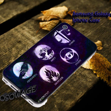 Divergent factions nebula Cover iPhone 4 4S iPhone 5 5S 5C and Samsung Galaxy S3 S4 S5 Case
