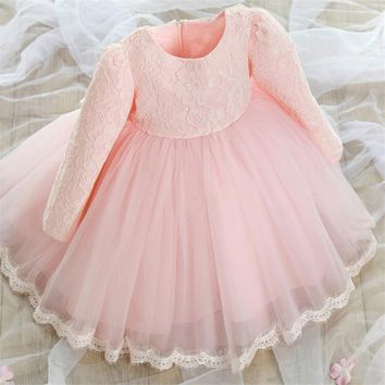 Autumn winter baby girls newborn dress for christening 1 year infant toddler baby birthday dress long sleeve christmas dress